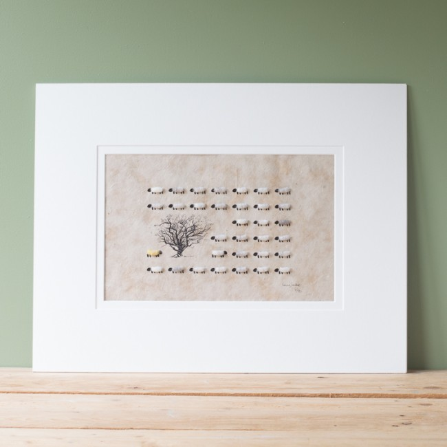 Sheep Limited Edition Print - A Touch of Yellow