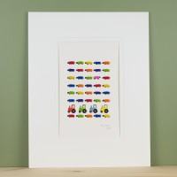 Bright Sheep witht Tractors Limited Edition Print