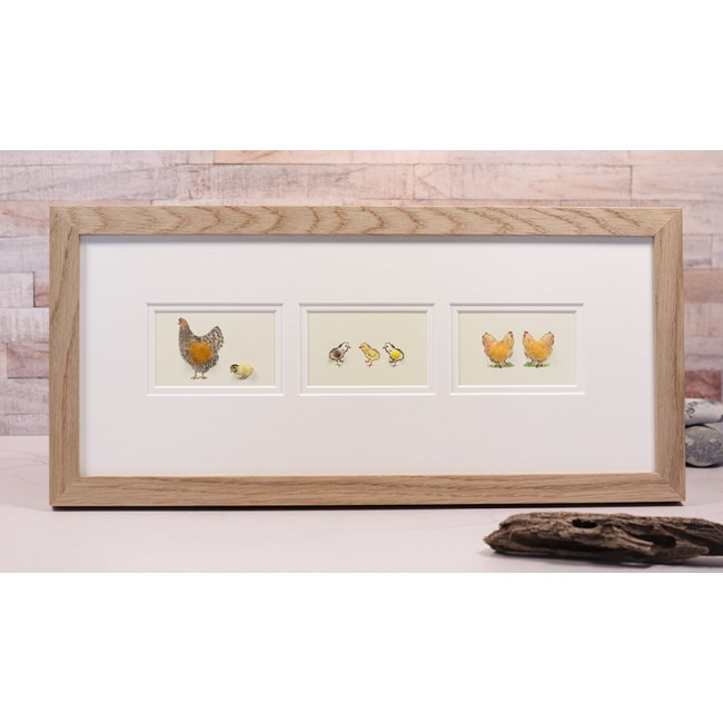 Framed Gift Cards - Chickens