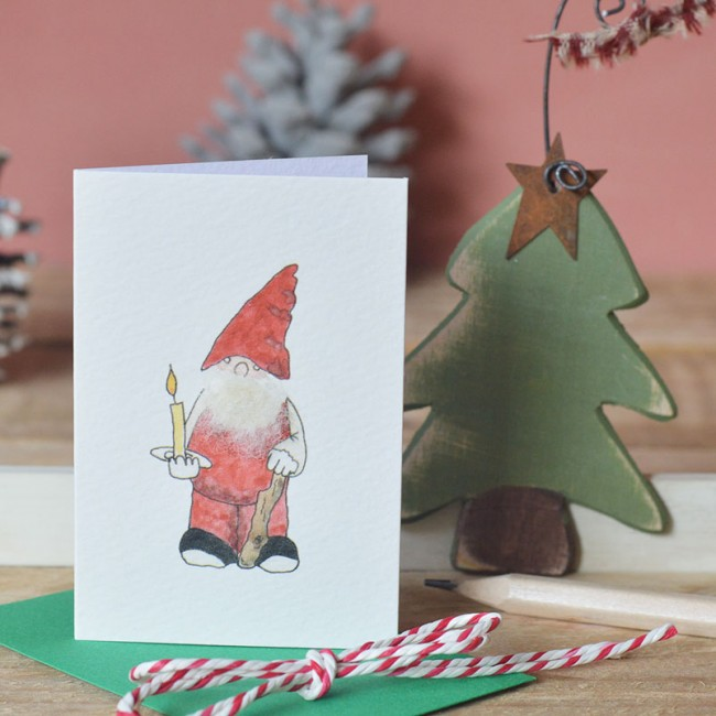 Gnome Christmas Gift Cards - Pack of 4