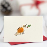 Cat Christmas Gift Cards, pack of 4