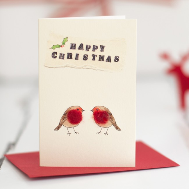 Robins Happy Christmas Gift Cards, Pack of 4