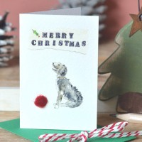 Scruffy dog Christmas Gift Cards, pack of 4