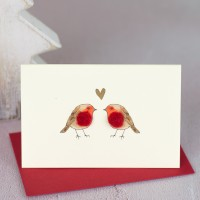 Robins in Love Christmas Gift Cards, Pack of 4