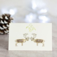 Deer Christmas Gift Cards, Pack of 4