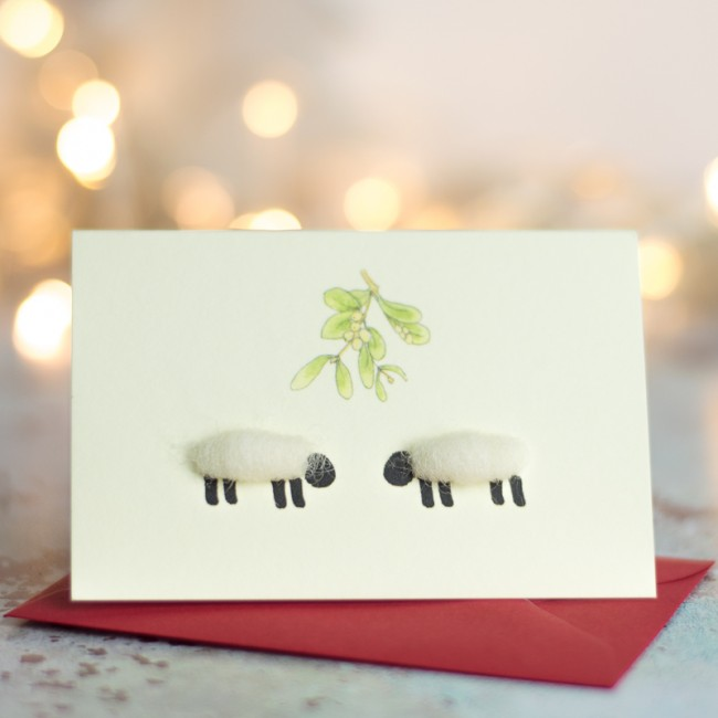 Sheep Christmas Gift Cards, pack of 4