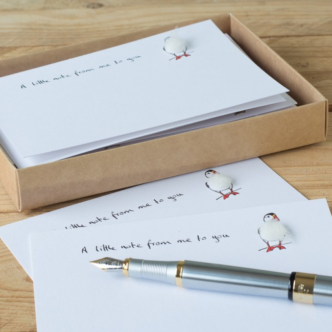 Puffin Notecards - set of 10