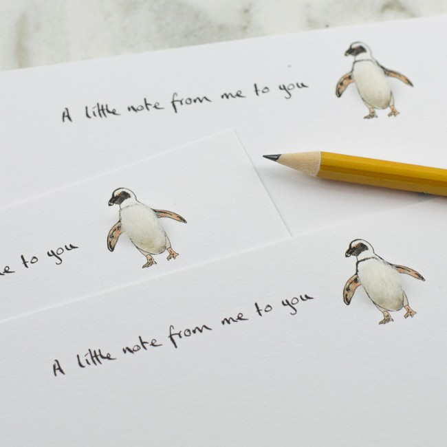 Penguin Notecards - set of 10
