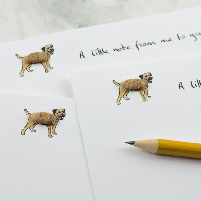 Border Terrier Notecards, boxed set of 10