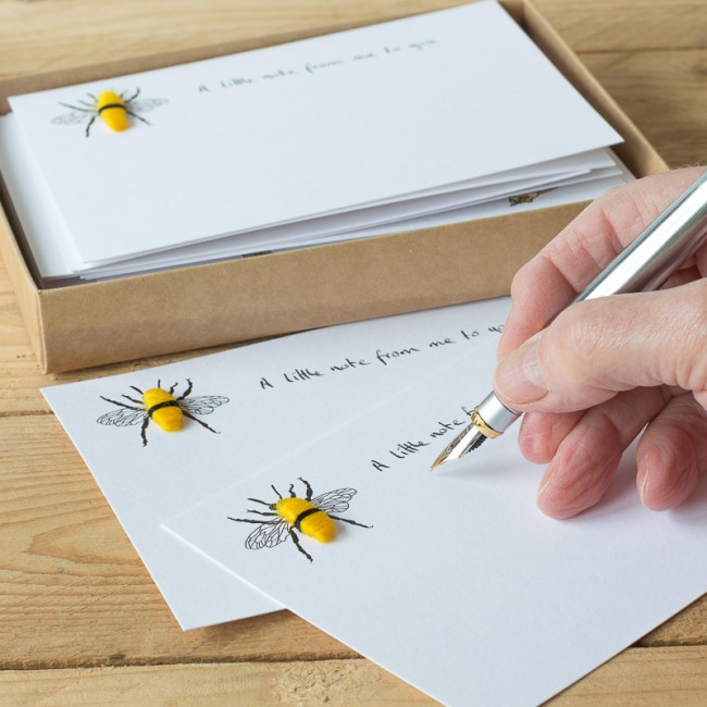 Bee Notecards, Boxed Set of 10