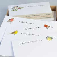 Garden Bird Notecards - set of 10