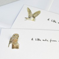 Owl Notecards - set of 10