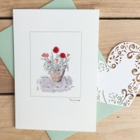 Greeting Card - Red Tulips