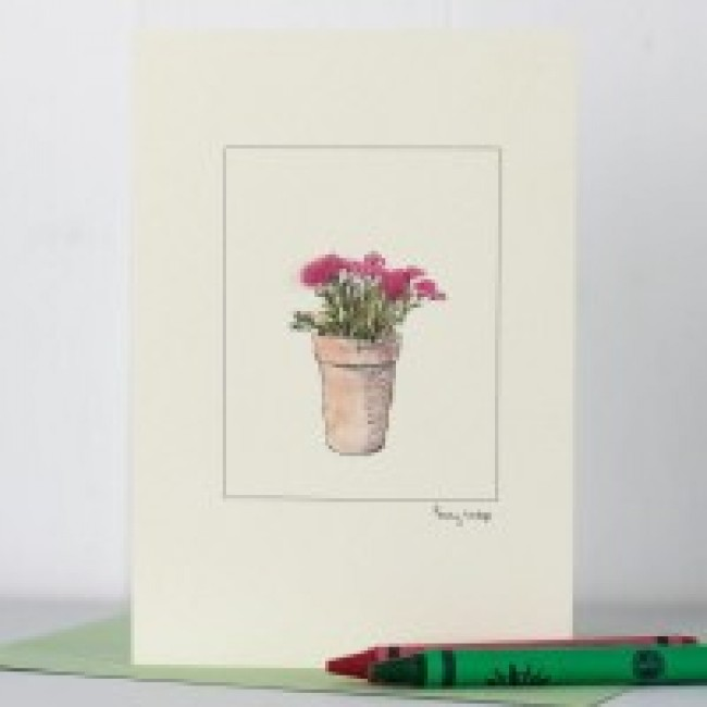 Pot of Pinks Greeting Card