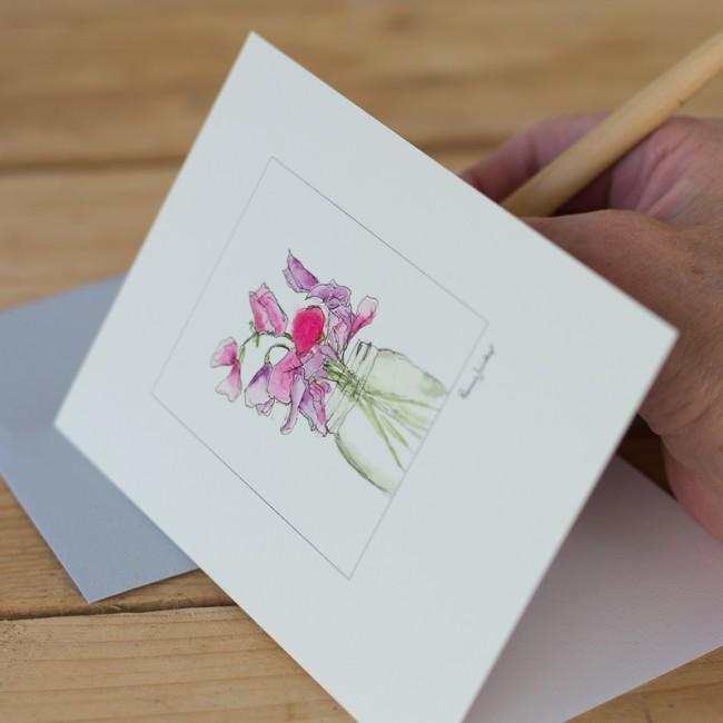 Sweet Peas card