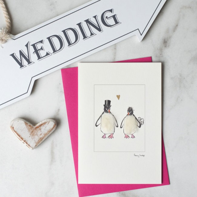 Penguin Wedding Card