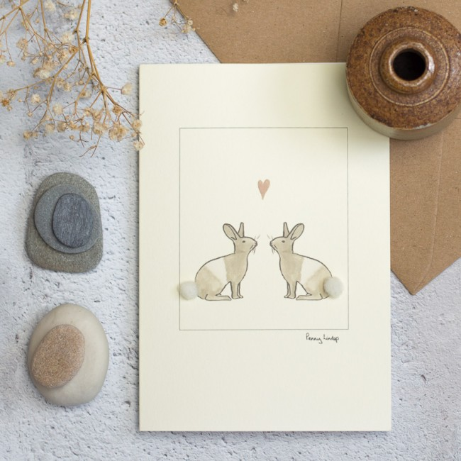 Rabbit Card - Rabbits in Love