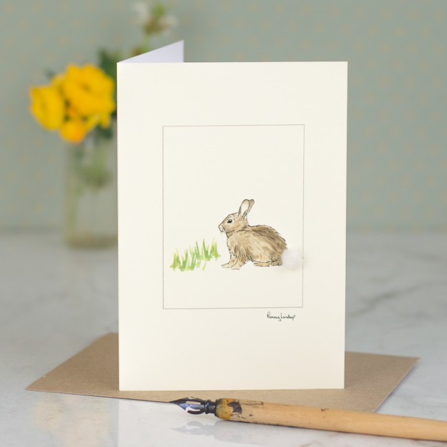 Rabbit Card - rabbit in the grass