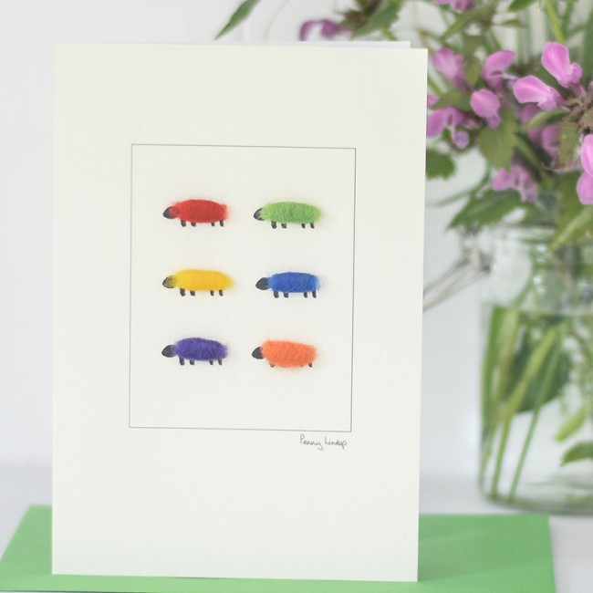 Bright Sheep Card