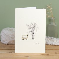 Sheep card - Valais Blacknose sheep