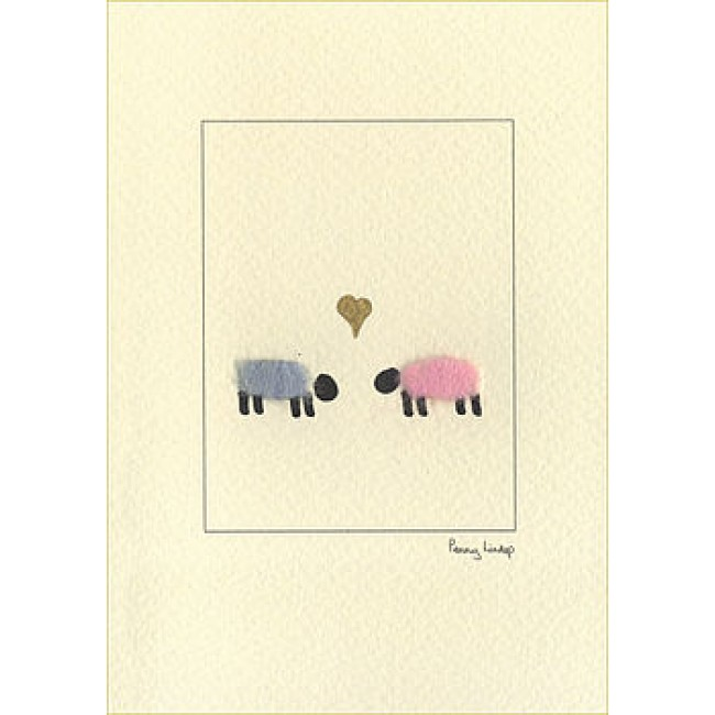 Sheep & Heart Card