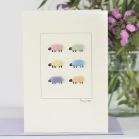 Pastel Sheep Card