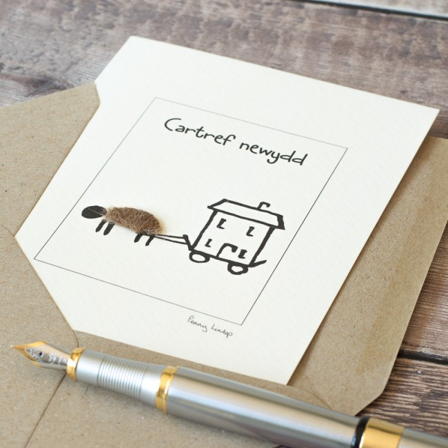 Welsh Moving House Card