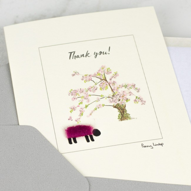 Sheep thank you card