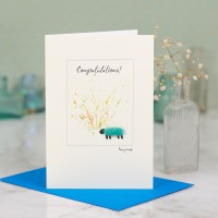 Sheep Congratulations card