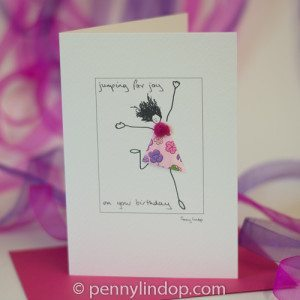 Greeting card - jumping for joy