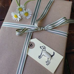 Pack of 6 Gift Tags with Fluffy Dogs