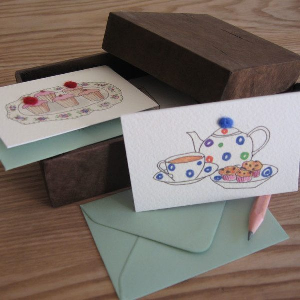 Boxed Gift Cards with Cakes