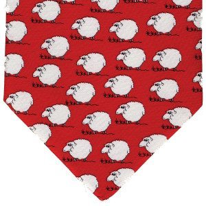Tie - Red Silk - Black sheep of the family