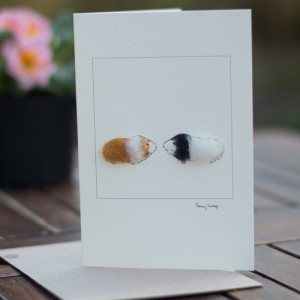 Two Guinea Pigs Card
