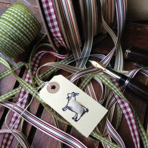 Pack of 6 Gift Tags with Goat
