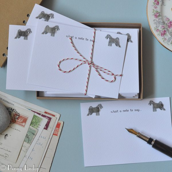 Set of 10 Notecards - Miniature Schnauzer