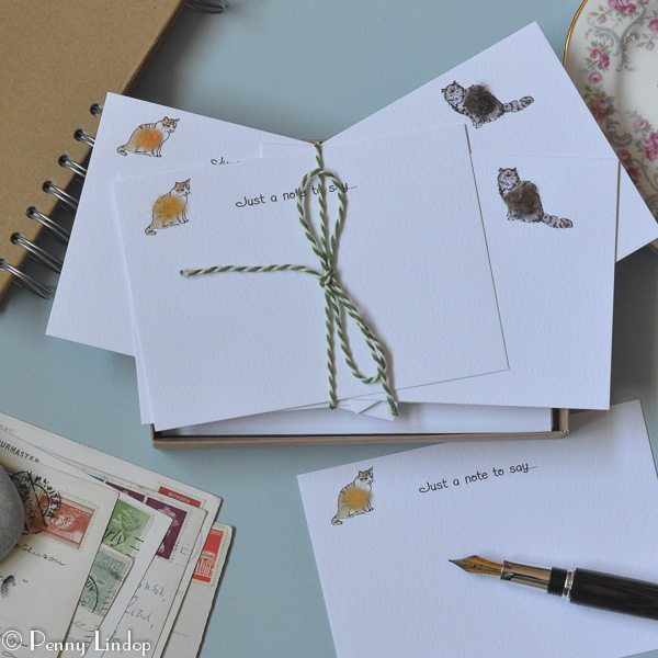 Set of 10 Notecards - Cats