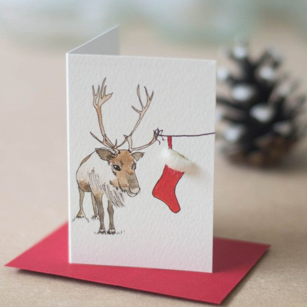Christmas Reindeer Gift Cards - Pack of 8