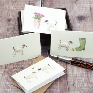 Jack Russell giftcards, set of 8
