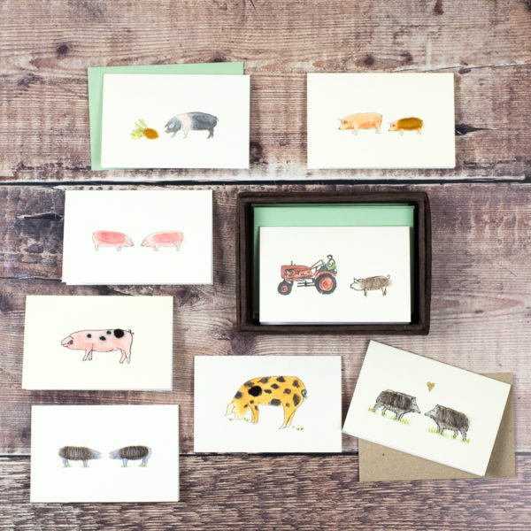 Pig gift cards