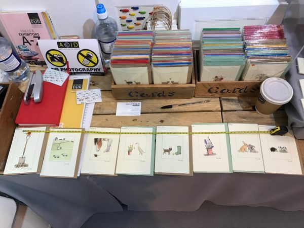 Penny Lindop Designs greeting cards at Spring Fair Birmingham trade show