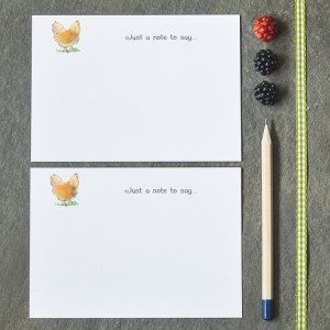10 Chicken notecards in a boxed set