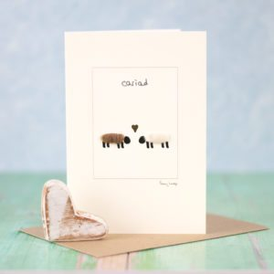 Welsh love cariad card