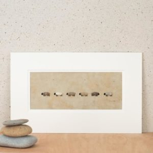 Row of Brown Sheep Picture