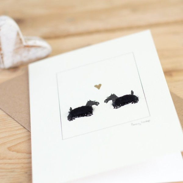 Scottie Dogs & Heart Card