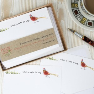 Pheasant Notecards, boxed set x 10