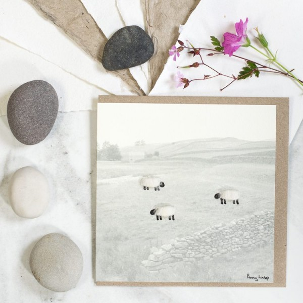 Sheep & Hills Card
