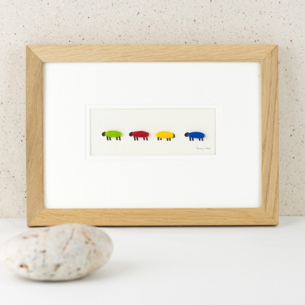 Bright woolly sheep picture