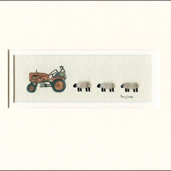 Picture - Tractor, Nuffield, & sheep