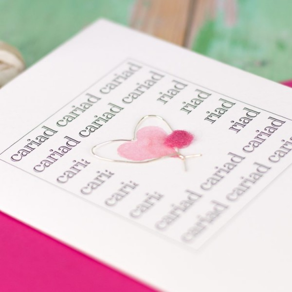 Welsh love heart card